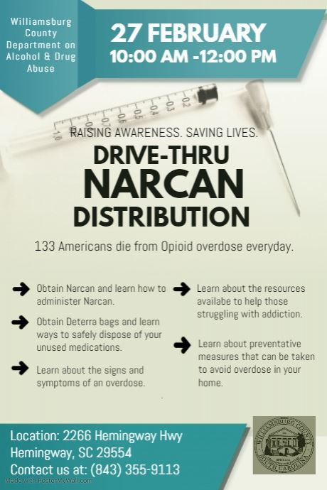 Hemingway Narcan Distribution Flyer