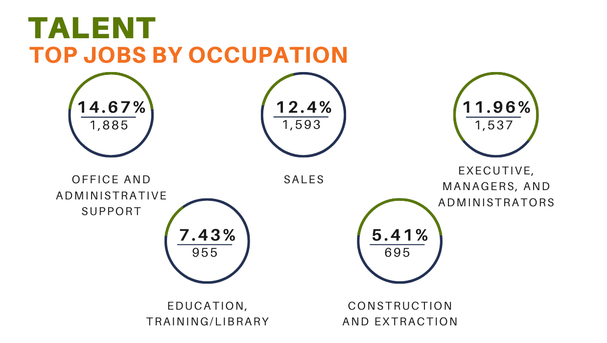 Talent (Jobs by occupation) Chart