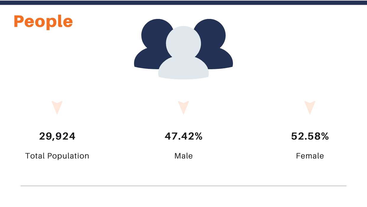 Population by Gender Infographic