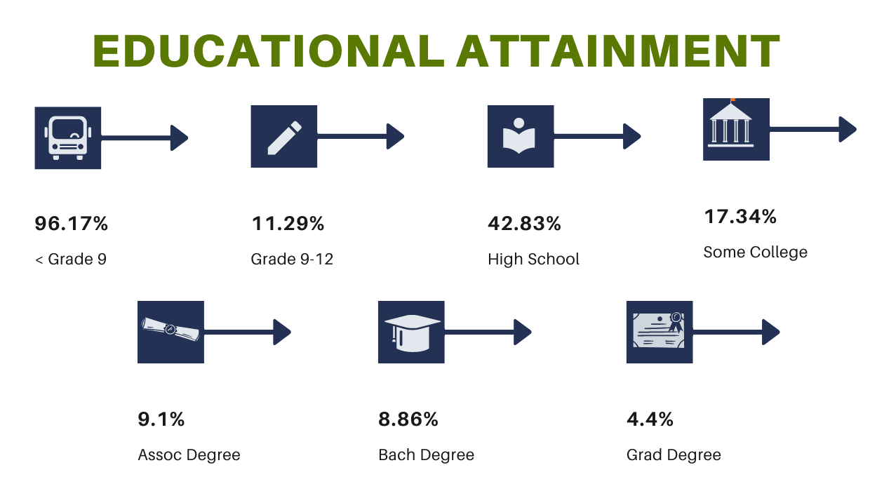 Educational Attainment Infographic