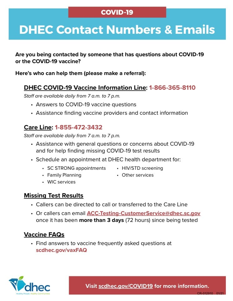 DHEC Hotline Flyer